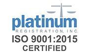 ISO 9001:2015 Platinum Certified